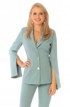 Elegant mint tented jacket cloth thin fabric with cut-out sleeves