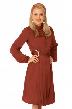 Office midi cloche bricky long sleeved dress