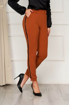 Conical office bricky trousers with elastic waist