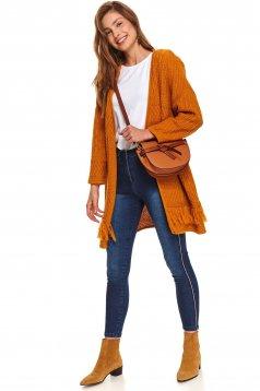 Pantaloni Top Secret albastri casual skinny cu talie medie din bumbac usor elastic