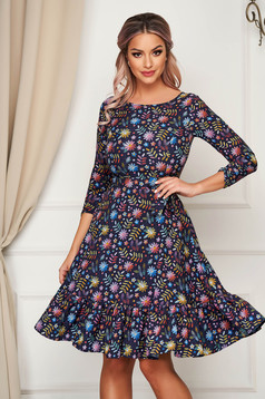 StarShinerS darkblue dress cloche thin fabric with ruffles at the buttom of the dress