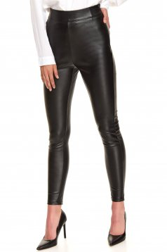 Black tights casual with tented cut long high waisted