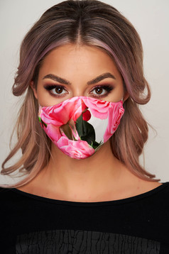 Masca textila pentru femei StarShinerS roz