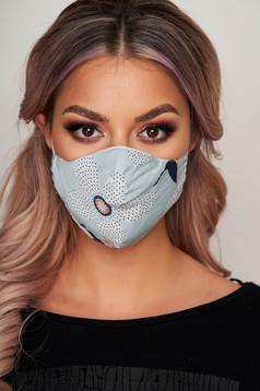 Masca textila pentru femei StarShinerS albastru deschis