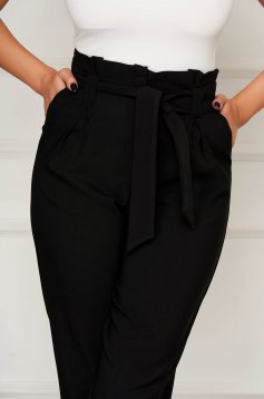 Black trousers office conical cloth with pockets