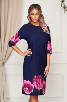 Pink dress midi daily from elastic fabric thin fabric straight