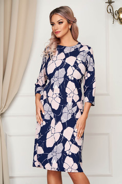 Dress midi daily from elastic fabric thin fabric straight