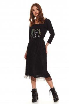 Black skirt casual cloche plumeti