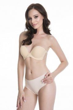 Bras cream with push-up bra strapless with adhesive part