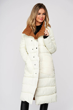 White jacket casual midi from slicker double-faced