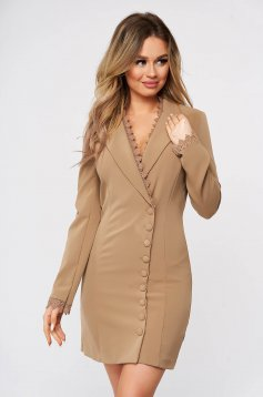 Cappuccino dress elegant short cut blazer type with embroidery details cloth