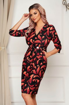 Dress elegant daily midi pencil thin fabric