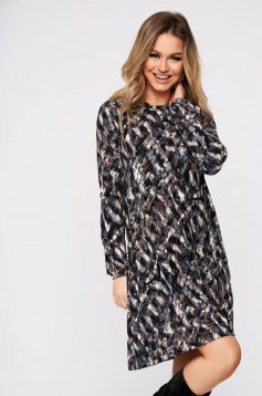 StarShinerS grey daily with easy cut dress knitted fabric long sleeved