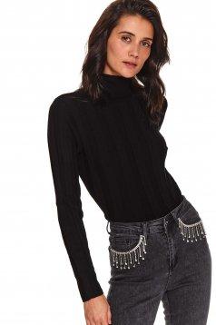 Black sweater casual turtleneck long sleeved