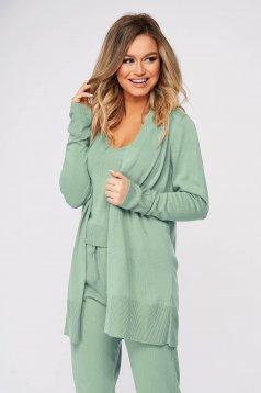 Trening dama SunShine verde deschis casual din material tricotat