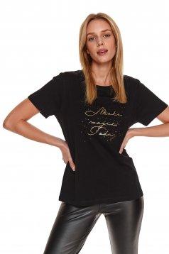 Black women`s blouse short sleeve