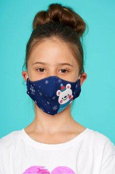 Masca texila pentru copii StarShinerS albastra