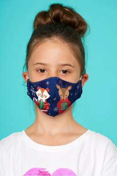 Masca texila pentru copii StarShinerS albastru-inchis