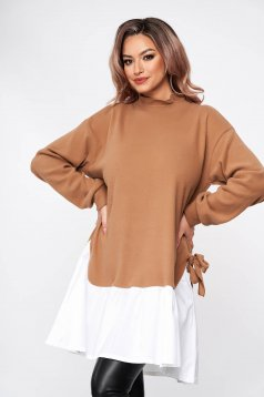 Cappuccino dress casual loose fit with bow accessories short cut