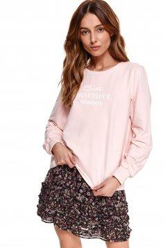 Lightpink women`s blouse cotton loose fit