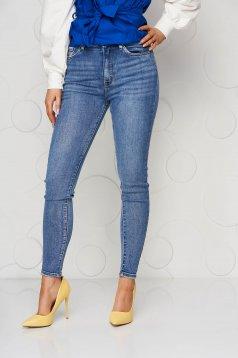 Blue jeans high waisted skinny jeans
