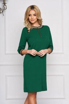 StarShinerS green dress a-line cloth zipper accessory short cut elegant