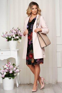 Overcoat lightpink straight thin fabric soft fabric