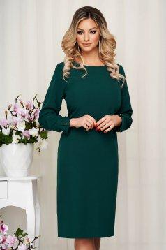 Dress StarShinerS green office midi cloth straight
