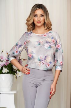 Women`s blouse StarShinerS grey loose fit