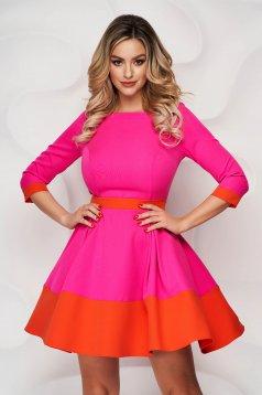 StarShinerS fuchsia short cut cloth dress with 3/4 sleeves