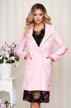 Overcoat pink straight thin fabric soft fabric