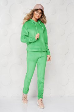 Lightgreen sport 2 pieces 2 pieces loose fit with undetachable hood