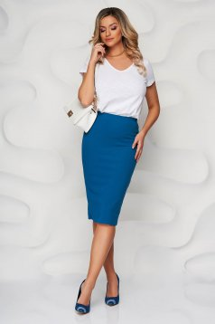 StarShinerS green office midi pencil skirt kotott