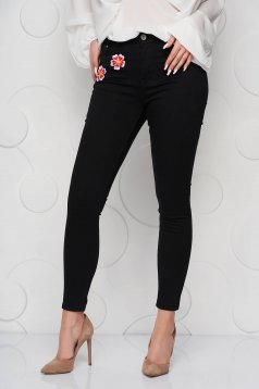 Black jeans denim skinny jeans high waisted