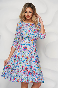 StarShinerS dress cloche thin fabric with ruffles at the buttom of the dress