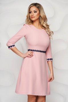 StarShinerS lightpink midi cloche elegant cloth from elastic fabric dress