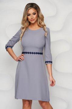 StarShinerS darkgrey midi cloche elegant cloth from elastic fabric dress