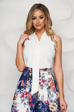 StarShinerS ivory women`s blouse airy fabric elegant
