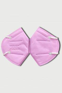 Set 10 bucati masca de protectie roz cu filtru FFP2 reutilizabila cu certificat CE