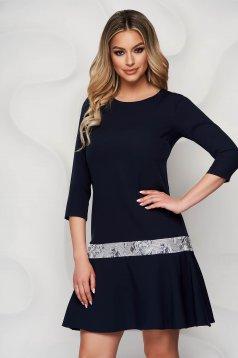 StarShinerS darkblue dress elegant short cut loose fit