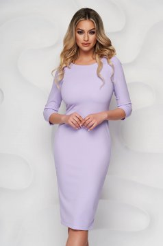 Dress elegant midi StarShinerS lila pencil bare back