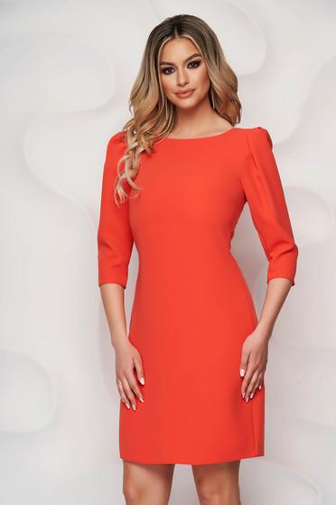 StarShinerS orange dress cloth short cut straight high shoulders