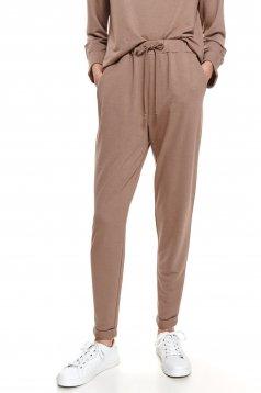 Pantaloni Top Secret piersica casual conici cu buzunare