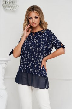 Women`s blouse voile details from elastic and fine fabric loose fit