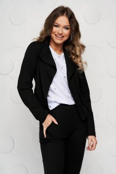 StarShinerS black cardigan with easy cut from elastic fabric
