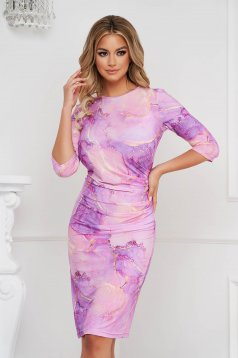 StarShinerS dress midi pencil from elastic fabric with 3/4 sleeves