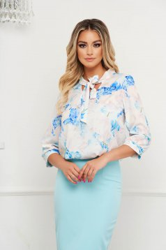 StarShinerS women`s blouse with floral print thin fabric office