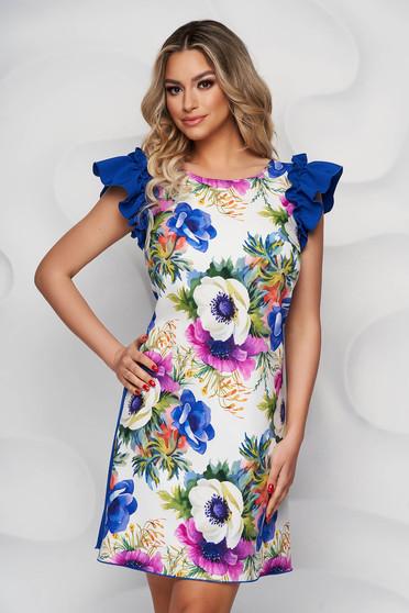 StarShinerS dress slightly elastic fabric elegant short cut straight