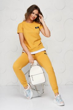 Mustard sport 2 pieces casual cotton from two pieces with trousers