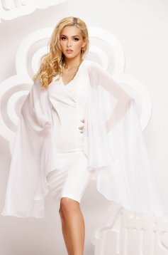 Ivory dress short cut pencil voile fabric thin fabric
